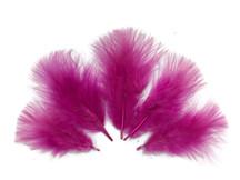 1/4 Lb - Fuchsia Pink Turkey Marabou Short Down Fluffy Loose Wholesale Feathers (Bulk)