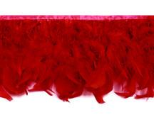 1 Yard – Red Chandelle Turkey Fluffy Feather Trim