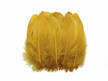1 Pack - Antique Gold Goose Nagoire Loose Feather - 0.25 Oz
