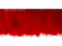 1 Yard - Red Marabou Turkey Fluff Feather Fringe Trim