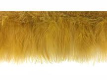 1 Yard - Old Antique Gold Marabou Turkey Fluff Feather Fringe Trim