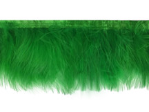 1 Yard - Kelly Green Marabou Turkey Fluff Feather Fringe Trim