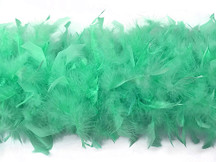 2 Yards - Mint Green Heavy Weight Chandelle Feather Boa | 80 Gram