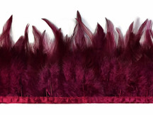 1 Yard - Magenta Rooster Neck Hackle Saddle Feather Wholesale Trim