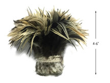 1 Yard - Natural Golden Badger Strung Chinese Rooster Saddle Wholesale Feathers (Bulk)