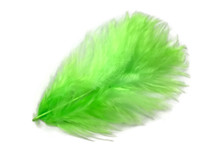 1 Pack - Chartreuse Green Turkey Marabou Short Down Fluff Loose Feathers 0.10 Oz.