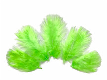 1/4 Lb - Chartreuse Green Turkey Marabou Short Down Fluffy Loose Wholesale Feathers (Bulk)