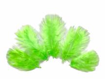 1/4 Lb - Chartreuse Green Turkey Marabou Short Down Fluffy Loose Wholesale Feathers (Bulk)