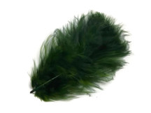 1 Pack - Olive Green Turkey Marabou Short Down Fluff Loose Feathers 0.10 Oz.