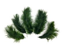 1/4 Lb - Olive Green Turkey Marabou Short Down Fluffy Loose Wholesale Feathers (Bulk)