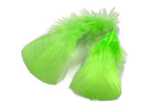 1 Pack - Chartreuse Green Dyed Turkey T-Base triangle Body Plumage Feathers 0.50 Oz.