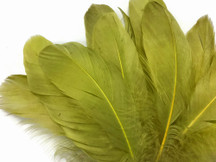 1/4 Lb - Olive Green Goose Nagoire Wholesale Feathers (Bulk)