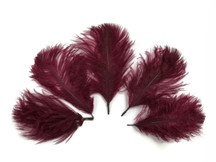Wholesale Pack - Burgundy Ostrich Small Confetti Feathers (Bulk)