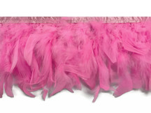 1 Yard – Candy Pink Chandelle Turkey Fluffy Feather Trim