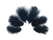 1/4 Lb - Navy Blue Turkey Marabou Short Down Fluffy Loose Wholesale Feathers (Bulk)
