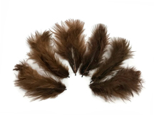 1/4 Lb - Brown Turkey Marabou Short Down Fluffy Loose Wholesale Feathers (Bulk)