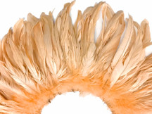 2.5  Inch Strip -  Champagne Strung Natural Bleach And Dyed Coque Tails Feathers