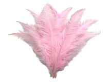 "1/2 Lb - Light Pink Ostrich Spads Wholesale Feathers 20-28"" (Bulk)"