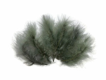 "1/4 Lb - 5-6"" Silver Gray Green Turkey Marabou Short Down Fluffy Loose Wholesale Feathers (Bulk)"