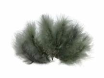 "1/4 Lb - 5-6"" Silver Gray Green Turkey Marabou Short Down Fluffy Loose Wholesale Feathers (Bulk)"