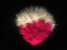1 Piece - Pink and White Marabou Feather Pad