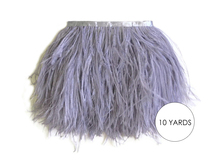 10 Yards - Grey Ostrich Fringe Trim Wholesale Feather (Bulk)