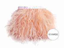 10 Yards - Champagne Ostrich Fringe Trim Wholesale Feather (Bulk)