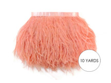 10 Yards - Peach Pink Ostrich Fringe Trim Wholesale Feather (Bulk)