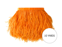 10 Yards - Orange Ostrich Fringe Trim Wholesale Feather (Bulk)