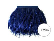 10 Yards - Navy Blue Ostrich Fringe Trim Wholesale Feather (Bulk)