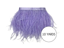 10 Yards - Lavender Ostrich Fringe Trim Wholesale Feather (Bulk)
