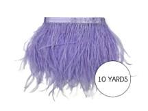 10 Yards - Lavender Ostrich Fringe Trim Wholesale Feather (Bulk)