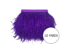 10 Yards - Purple Ostrich Fringe Trim Wholesale Feather (Bulk)