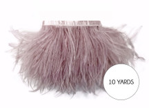 10 Yards - Taupe Ostrich Fringe Trim Wholesale Feather (Bulk)