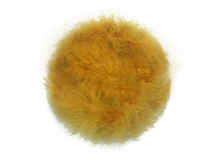 2 Yards - Antique Gold Turkey Medium Weight Marabou Feather Boa 25 Gram