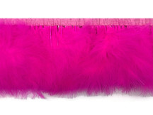 1 Yard - Hot Pink Marabou Turkey Fluff Feather Fringe Trim