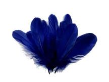 1/4 Lb - Navy Blue Goose Nagoire Wholesale Feathers (Bulk)