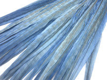 "50 Pieces - 20-22"" Light Blue Bleached & Dyed Long Ringneck Pheasant Tail Wholesale Feathers (Bulk)"