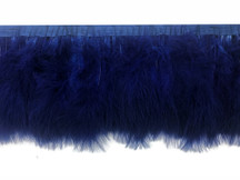 1 Yard - Navy Blue Marabou Turkey Fluff Feather Fringe Trim