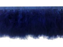 1 Yard - Navy Blue Marabou Turkey Fluff Feather Fringe Trim