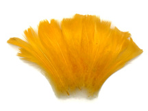 "1/4 Lb - 2-3"" Golden Yellow Goose Coquille Loose Feathers Wholesale (Bulk)"