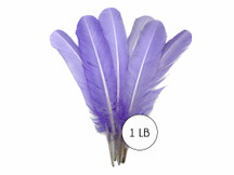 1 Lb. - Lavender Turkey Tom Rounds Secondary Wing Quill Wholesale Feathers (Bulk)