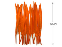 10 Pieces - Orange Goose Pointers Long Primaries Wing Feathers