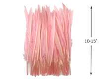 10 Pieces - Light Pink Goose Pointers Long Primaries Wing Feathers