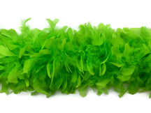2 Yards - Lime Green Heavy Weight Chandelle Feather Boa | 80 Gram