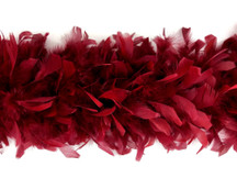 2 Yards - Burgundy Heavy Weight Chandelle Feather Boa | 80 Gram