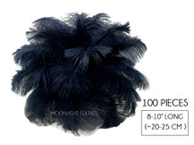 "100 Pieces - 8-10"" Navy Blue Ostrich Dyed Drab Body Wholesale Feathers (Bulk)"