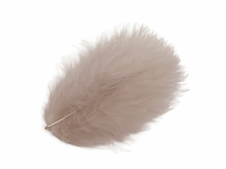 Bag Loose WHITE Turkey Marabou Feathers for Fly Tying 1//4 oz