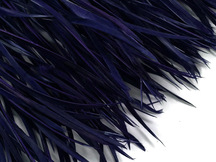 1 Yard - Navy Blue Goose Biots Stripped Wing Wholesale Feather Trim