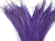 5 Pieces - Lavender Bleached & Dyed Peacock Swords Cut Feathers